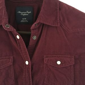 American Eagle Corduroy Button Down